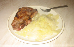 Cabbage and pork