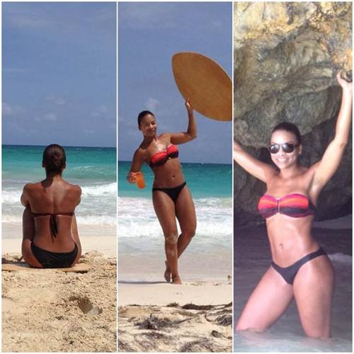 Ex-athlete Lisandra Before. In good shape, but...