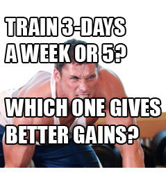 Should I Train 3 days or 5 Days a Week For Best Muscle Gains?