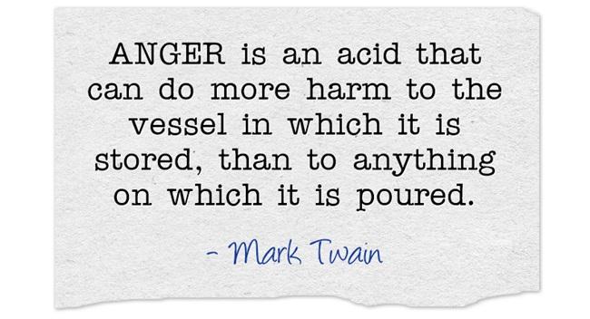 mark twain anger acid quote