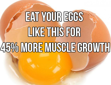 Whole Eggs Increase Muscle Growth By 45%