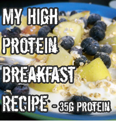 Quick Bodybuilding Breakfast Recipe