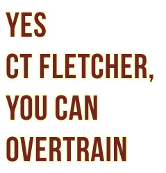 ct-fletcher-overtraining