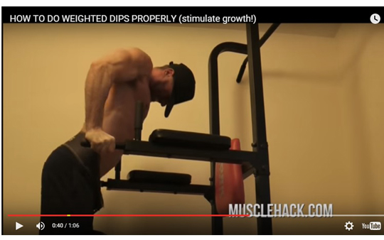 Why I love weighted dips (and how to do them properly)