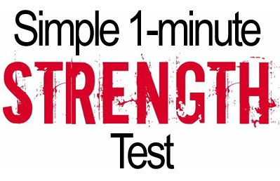 Try This Cool 1-Minute Strength Test